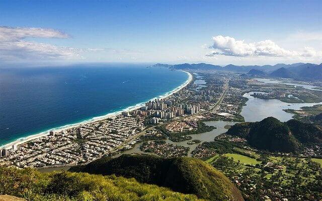 Visão de cima do bairro da Barra da Tijuca