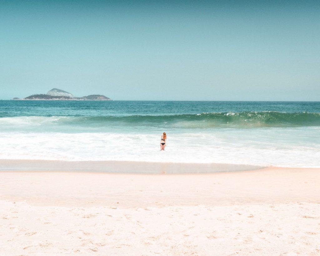 Praia de São Conrado no Rio de Janeiro