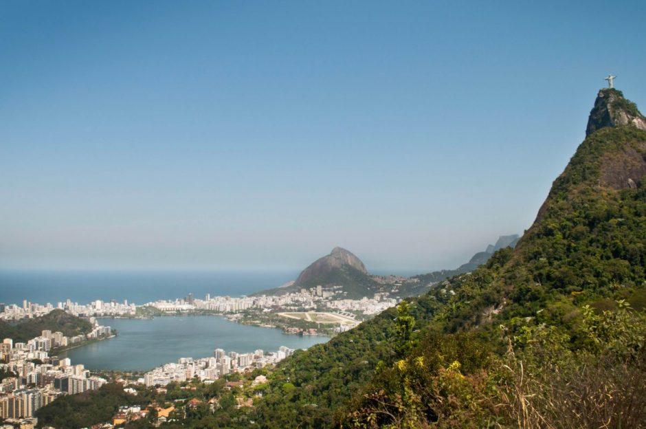 Vista de cima da praia de São Conrado