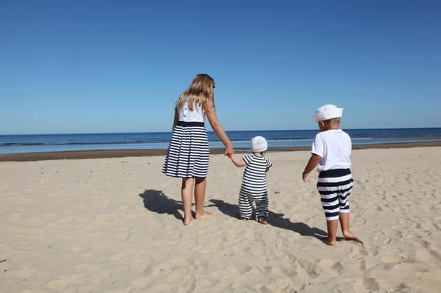 Família na praia de Ipanema