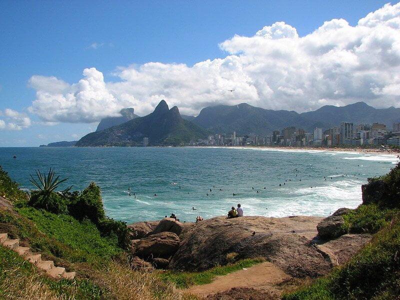 Praia de Ipanema no Rio