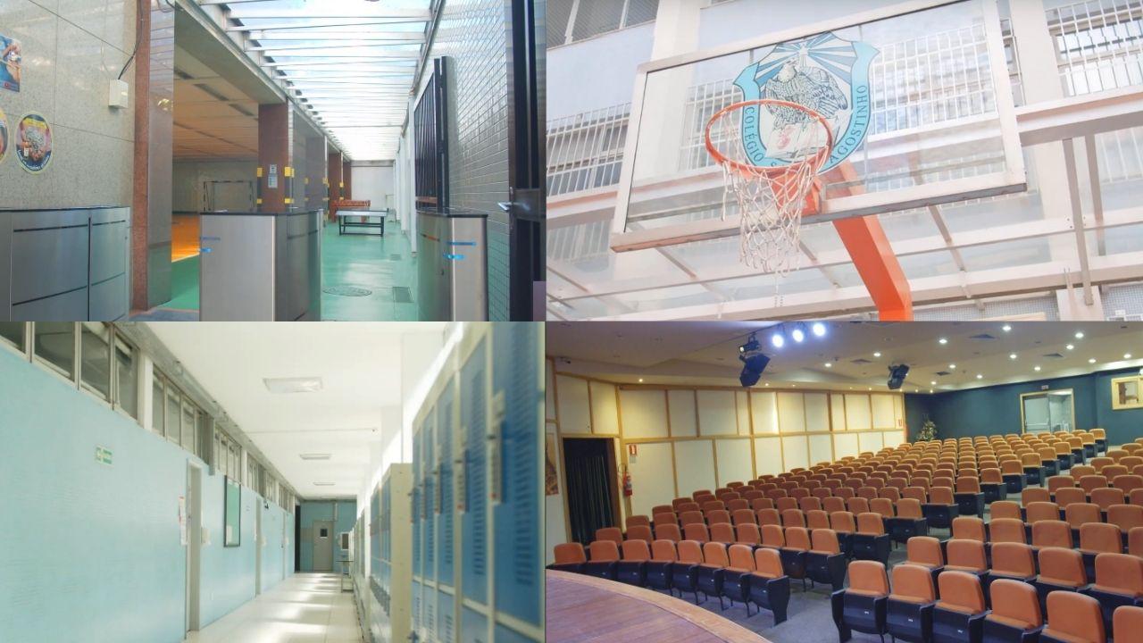 Fotos dos espaços internos do Colégio Santo Agostinho Leblon