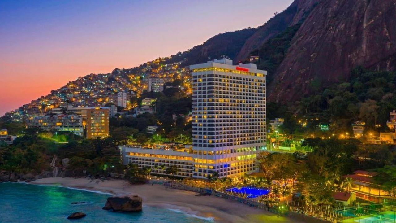 Vista para o Hotel Sheraton RJ na orla da praia