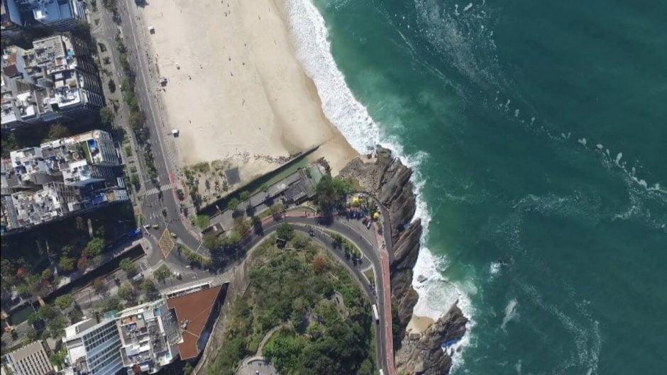 vista aerea do mirante do leblon