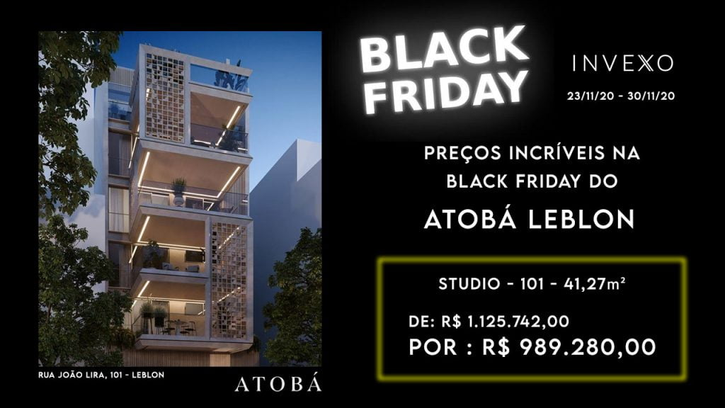 Black Friday de imóveis no Leblon