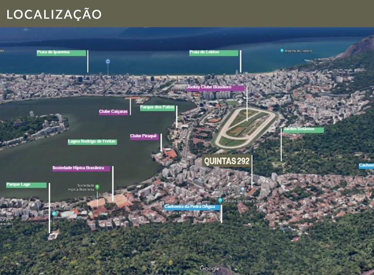 Localização Quintas 292 Jardim Botanico