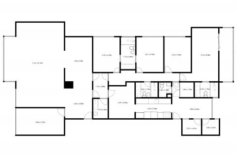Planta - 261 m² - 5 Quartos