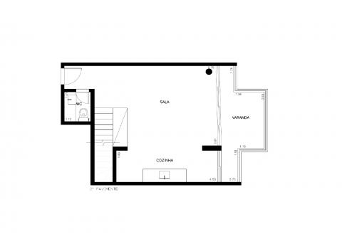 Planta Baixa  - 87m² - 2 quartos - 2 pavimento