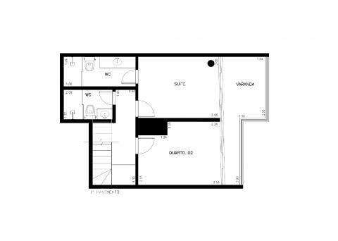 Planta Baixa - 87m² - 2 quartos - 1 pavimento