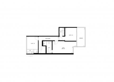 Planta Baixa - 3 quartos -143 m²