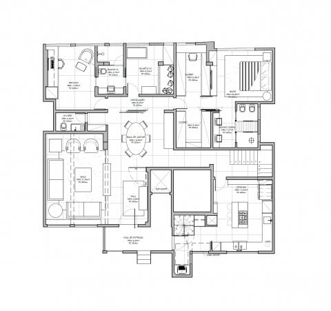 Planta Baixa - 1º pavimento - 3 Suítes