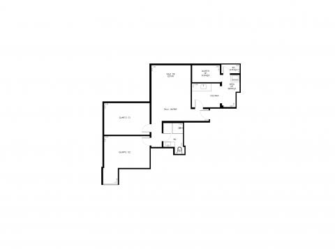 Planta Baixa - 60m² - 2 quartos