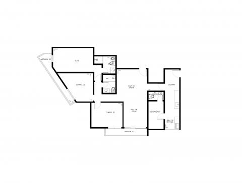 Planta Baixa - 109m² - 3 quartos