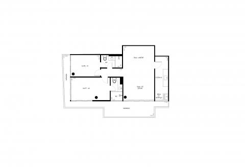 Planta Baixa - 85m² - 2quartos