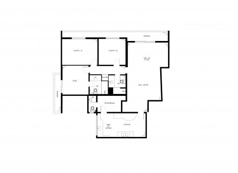 Planta Baixa - 134m² - 3 quartos