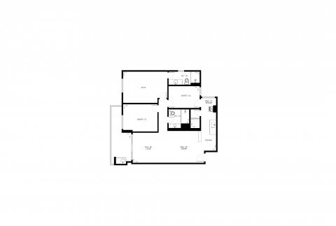 Planta Baixa - 3 Quartos - 92m²
