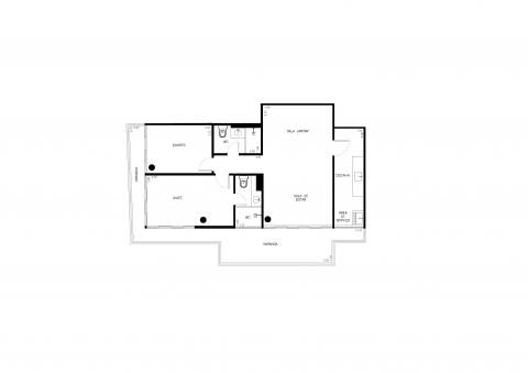 Planta Baixa - 2 Quartos - 85m²