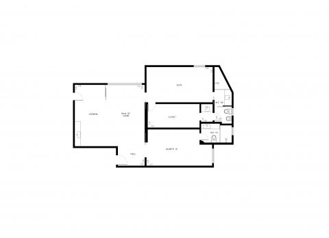 Planta Baixa - 87m² - 2 Quartos
