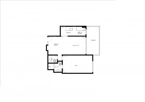 Planta Baixa - 66m² - 1 Quarto