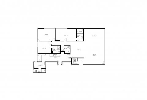 Planta Baixa - 3 Quartos - 140m²