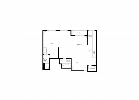 Planta Baixa - 2 Quartos - 75m²